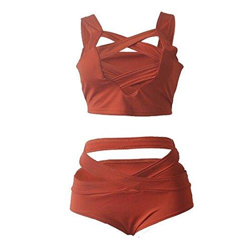 SZJH Damen Bikini-Set Orange