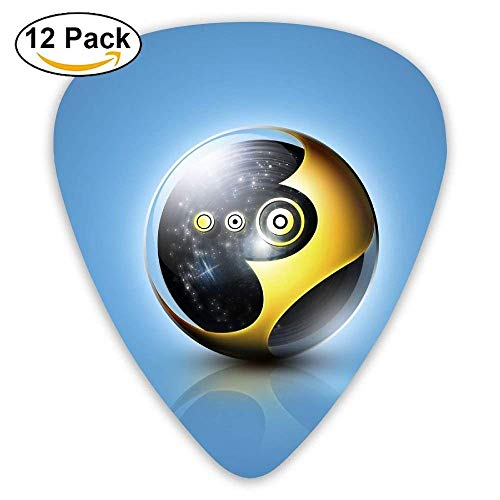 Ball Black Yellow Blue Guitar Pick 12pack