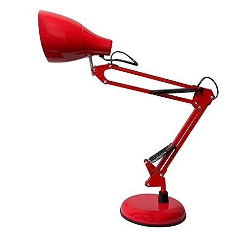 &die Tischleuchte Dimmable LED Schreibtisch Lampe Augenpflege Klapptisch Lampe Leselampe Schlafzimmer Lampen ( Farbe : Rot )