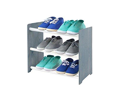 Schuhregal Schuhschrank Schuhe Schuhständer RBS-3-45 (Seiten dunkelgrau, Stangen in der Farbe...