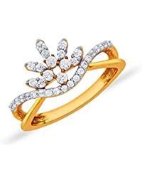 P.N.Gadgil Jewellers 18KT Yellow Gold And Solitaire Ring For Women - B076SMYGYC