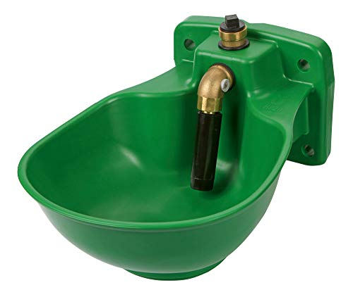 Eider Frostschutz Tränke, beheiztes Tränkebecken, HP20, 230 Volt - Rohrventil - Frostschutzthermostat integriert - Heizleistung ca. 31 Watt
