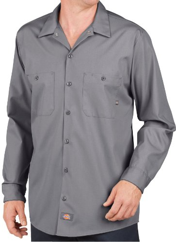 Dickies - - LL535 - Industrie-Langarm Shirt Work, 3X-Large, Graphite Gray (Graphit Langarm-shirt)