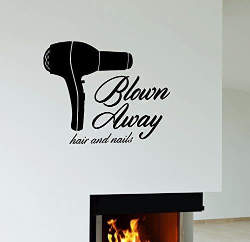 51 * 42 cm Friseurwerkzeuge Föhn Haar Und Nägel Friseure Haarschnitt salon Schönheitssalon shop Wandkunst Vinyl Aufkleber Fenster Aufkleber