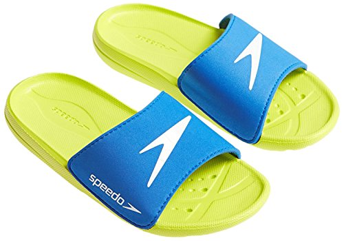 Speedo Atami Core Sld Jm Scarpe, Blue/Green/White, 2 UK (34,5 IT)