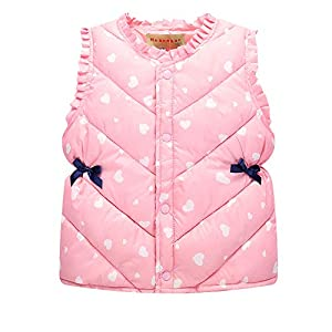 Niñas Invierno Chalecos - Lindo Otoño Abrigo Cálido con Botones Bebé Niños Moda Sin Mangas Chaquetas 15