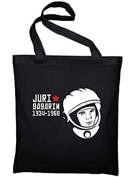 Juri Gagarin Astronaut Kosmonaut Russland Jutebeutel, Beutel, Stoffbeutel, Baumwolltasche
