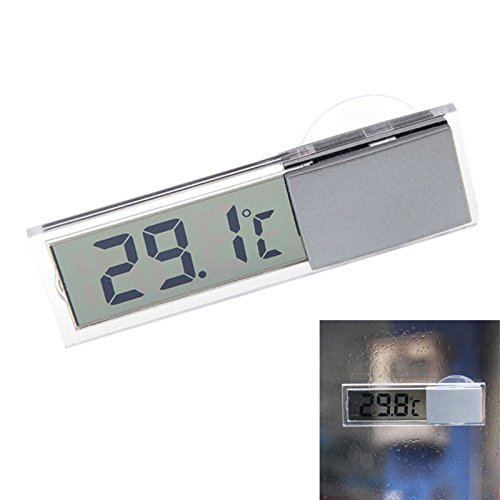 Wildlead Auto Thermometer Osculum Typ Celsius Fahrenheit LCD Digitale Temperaturen Meter Saugnapf Für Indoor Outdoor