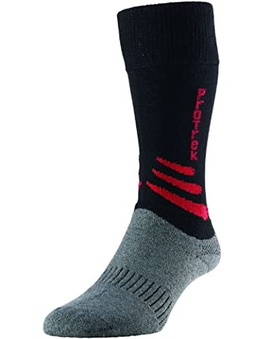 HJ Hall ProTrek HJ839 Multi Trek Bamboo Rich Walking Hiking Boots Socks / Available in UK Sizes 3 up to 13 (UK 6-8½ Eur 39-42½, Black)