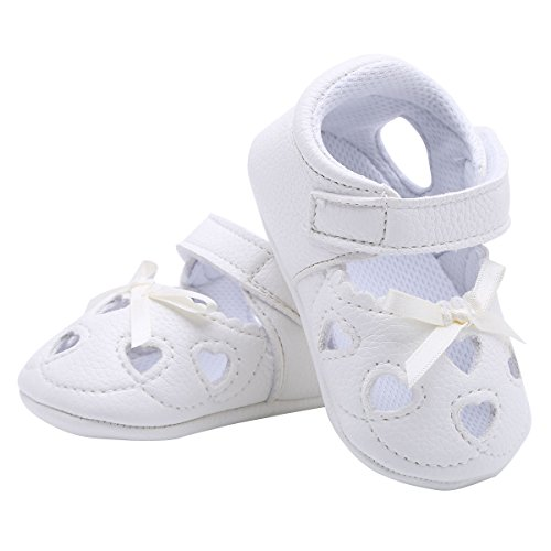 iiniim Baby Schuhe Kleinkind Mädchen Niedlich Bowknot Prinzessin Schuhe Anti-Rutsch weiche Krabbelschuhe Für 0-18 Monate Elfenbein 12CM(6-12 Monate) (Kleinkind-mädchen-kleid-schuhe Elfenbein)