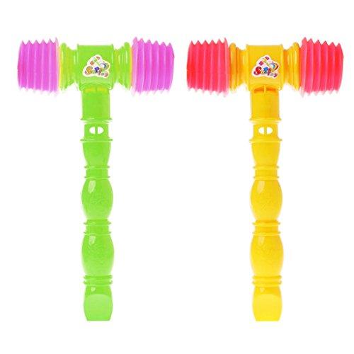 Jiamins 1pc 25cm Kind Kunststoffhammer, Kinder Griff Pfeifen Spielzeug, Geräuschhersteller