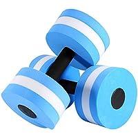EVA Mousse Fitness Aqua Halt/ères Eau Flotteur Musculation Formation Fitness Yoga Halt/ère Barbell Tbest 1 Paire Halt/ères Exercice Aquatique