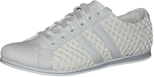 Tamboga Schnürsenkel sneaker für Mann Turnschuhe Mann Weiß - weiß