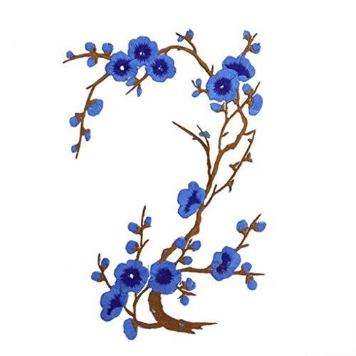 Carry stone Pflaumenblüte Blume Patch Blume Applique Kleidung Stickerei Stoff Aufkleber Patch Aufbügeln oder Aufnäher -