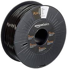 2.85mm AmazonBasics - Filamento per stampanti 3D, in polilattato (PLA), 2.85 mm, nero, 1 kg per bobina
