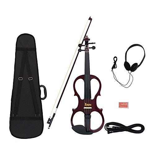 Bow Violin 1 8 (ammoon Violin Geigen Fiddle Holz Ahorn 4/4 Geige Saiteninstrument mit Ebenholz Armaturen Kabel Kopfhörer Fall für Musik-Liebhaber-Anfänger)