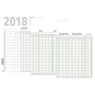 RNK 2910/18 Urlaubsplaner und Jahresplaner A4 2018 Monat/Tage