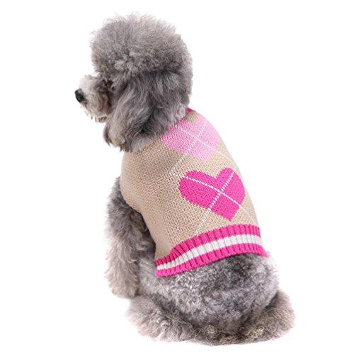 r Kleidung Kleine Hund Gestrickte Pullover Warme Strickwaren Pink S (Kostüme Für Französische Bulldoggen)