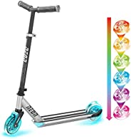 Yvolution 101166 Neon Ghost LED Scooter with Dynamic Lights for Kids Aged 5+