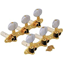 BQLZR Golden Plated Classical Guitar Tuners Machine Heads Pearled Tuning Pegs