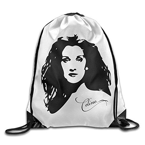 Etryrt Zaino con Coulisse,Borse Sacca,Sacchetto Celine Dion Gym Drawstring Bags Backpack