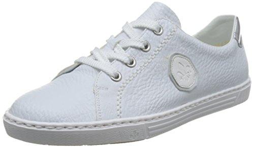 Rieker Damen L0913 Sneakers, Weiß (Weiss/Argento/Weiss/80), 38 EU