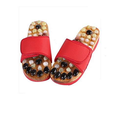 Qian Pebbles masaje zapatillas pie acupoint foot foot zapatos antideslizante salud hogar fresco zapatillas , 40-41