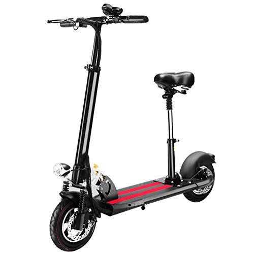 HOPELJ Elektroroller, 350W High Power E-Scooter, Tempomat und USB-Aufladung, Faltbarer Leichtgewicht mit 20-30 km Reichweite, Höchstgeschwindigkeit 45 km/h, Elektroroller für Erwachsene, Schwarz
