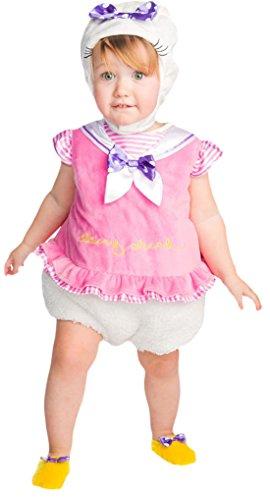 Kostüm Duck Donald Baby (erdbeerloft - Unisex - Baby Karneval Kostüm Daisy Duck Tabard , Mehrfarbig, Größe 80-86, 12-18)