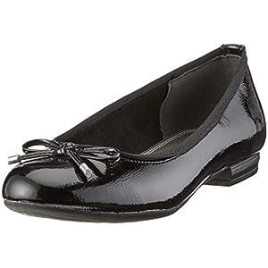 MARCO TOZZI Damen 2-2-22137-32 Geschlossene Ballerinas, Schwarz (Black Patent 018), 39 EU