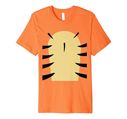 Tiger T-Shirt einfach Funny Streifen Halloween-Kostüm Top Tee
