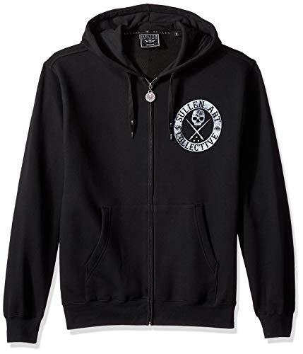 Sullen Art Collective Herren BOH Heavy Weight Zip Hoodie T-Shirt, schwarz, Mittel - Art Herren Hoodie