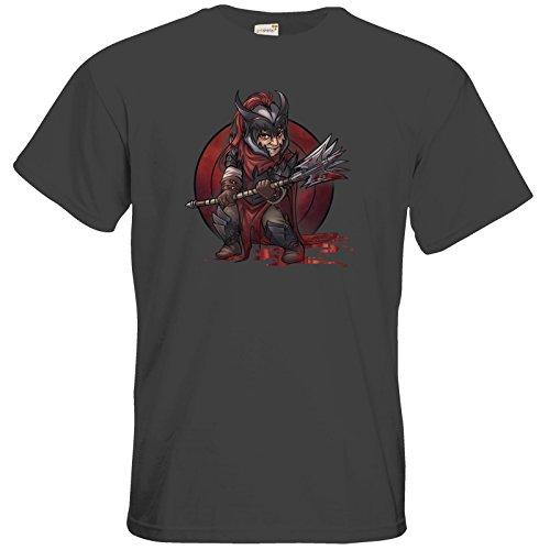 getshirts - Das Schwarze Auge - T-Shirt - Götter - Kor - Chibi Dark Grey
