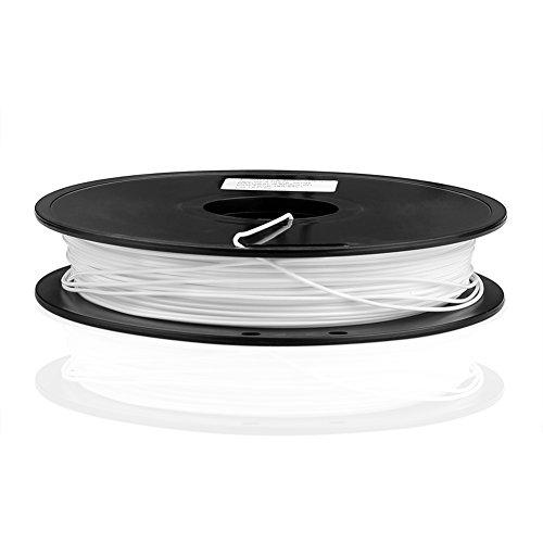 SIENOC 1 Packung 3D Drucker PLA 1.75mm Printer Filament - Mit Spule (0.5KG Weiß)