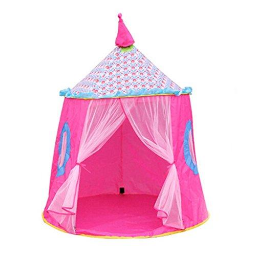 Preisvergleich Produktbild Children Castle Tent ,OverDose Schloss Kinder Zelt Haus der Spiele für Kinder Lustige Portable Zelt Baby spielen Tent House (120*110CM, Rosa)
