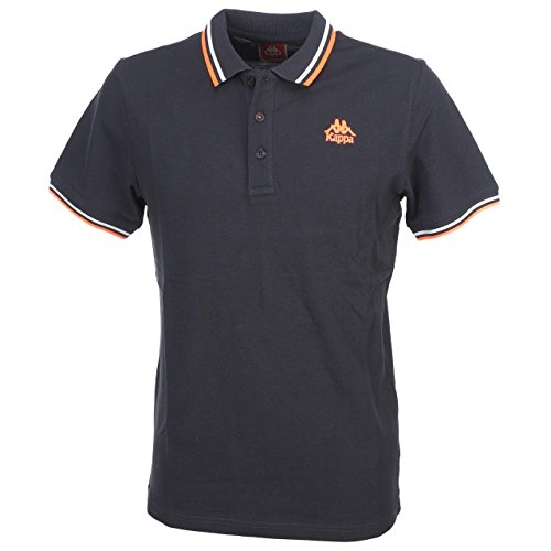 kappa-esmalto-polo-homme-gris-fonce-orange-fluo-fr-xl-taille-fabricant-xl