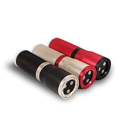 Farb-LED-Bluetooth-Lautsprecher mit bühnenglänzendem Phänomen mit MP3-USB- und Bluetooth-Fernbedienung für Party, Disco, Dance Balls und mehr - Rot -