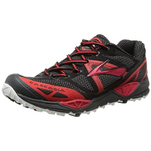 Brooks Cascadia 11-120204 1B 005, Damen Traillaufschuhe, Grau (Anthracite/Hibiscus/Crystalblu 005), 40.5 EU (7 UK)