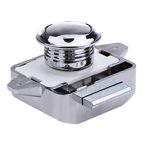 Demiawaking, serratura a pulsante per armadietti, cassetti, scrivanie, armadi per imbarcazioni e yacht moderno Chrome