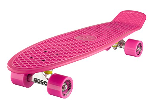 Ridge Skateboard Big Brother Nickel 69 cm Mini Cruiser, rosa/rosa