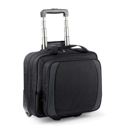 Quadra Tungsten - Bagage de cabine à roulettes (25 litres) (Taille unique) (Noir/Gris foncé)