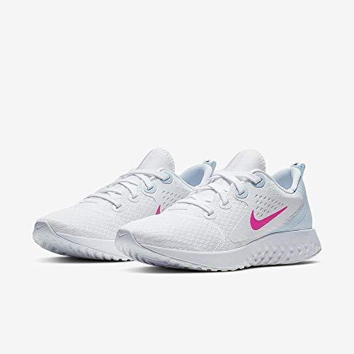 Nike Damen WMNS Legend React Leichtathletikschuhe, Mehrfarbig (White/Hyper Pink/Half Blue/Black 000), 37.5 EU