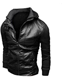 Sourcingmap Mens Clothing Hooded Zip Up Long Sleeve Panel Casual Jacket