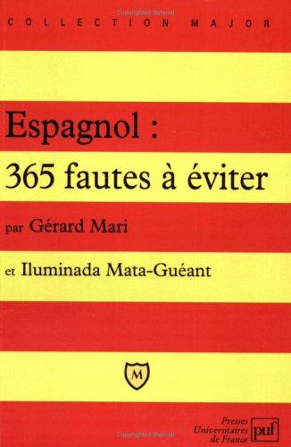 Espagnol, 365 fautes à éviter