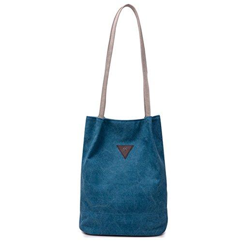 Arte canvas borsa a secchiello borse pulite semplicità informale sen tote borsa in cotone diagonale-A D