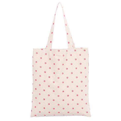 Einkaufstasche Schultertasche Einkaufsbeutel Reise Handtasche Beutel Frauen segeltuchhandtasche Einkaufen Shopper Schultertasche Strand Schulranzen # 8 - Gänseblümchen (8. März Frauen)