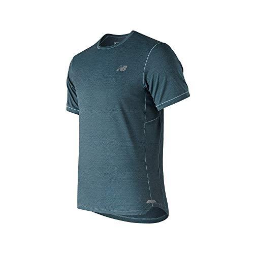 New Balance Herren Seasonless SS Leichte atmungsaktiv T-Shirt - Blau Frog - XL -