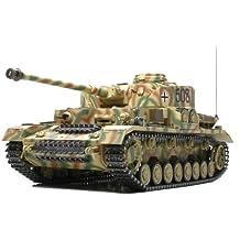 Tamiya - Maqueta del tanque RC Panzerkampfwagen IV Ausf. J full option kit, teledirigido, motor eléctrico, escala: 1:16 (56026)