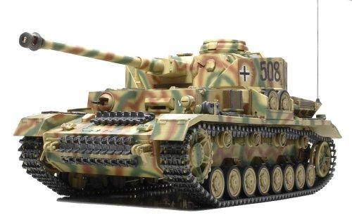 Tamiya 300056026 - RC Panzer IV Ausf. J full option, ferngesteuerter Panzer, 1:16, Elektromotor, Bausatz