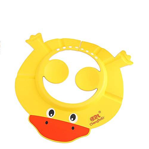 CULASIGN Baby Shampoo Cap mit Ohrpolstern Augenschutz Dusche Badeschutz weicher Kappen Hut für Baby Kinder (Ente gelb)